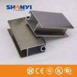 Chanpagne Perfil Perfil de aluminio de extrusión de aluminio para la industria de las puertas de Windows