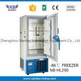 Congelatore criogenico del laboratorio di temperatura ultra insufficiente della farmacia