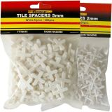 Crossed Shape Tile Spacers White Construction Building Part Plastic