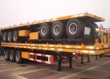 3개의 차축 평상형 트레일러 반 콘테이너 트레일러 40 피트