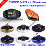 Hot & Unique Design 1.5inch TFT Display Hidden Car DVR avec caméra voiture 5.0mega, large angle 120 degrés