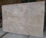 軽いコーヒーブラウンの大理石の平板