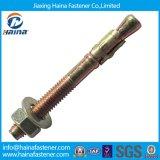 De zink Geplateerde Bout van het Anker met de Bout van het Anker van Hilti van de Noot van de Hexuitdraai M6-M16