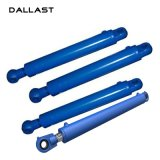 Cilindro ativo dobro do petróleo hidráulico com aço inoxidável do pistão para o reboque do caminhão de descarga