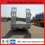 60t tri Semi Aanhangwagen van de Vrachtwagen van de Lading van het Platform van de As Lowbed/Lowdeck/de Lage Zware