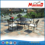 Getto Aluminum Outdoor Furniture Round Barbecue Table e giardino Chair