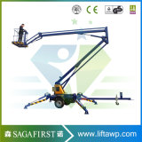 14m 16m Construction Building Maintenance Trailed Knuckle Boom