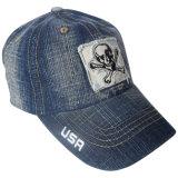 Популярный помытый шлем папаа джинсовой ткани с логосом Gj1759d