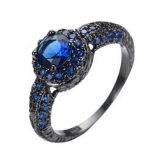 De elegante Ring Claddagh van de Regenboog van de Besnoeiing van het Hart Opalen