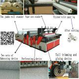 Máquina de papel automática de tecido do toalete do rolo do banheiro do rebobinamento