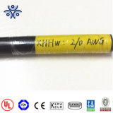 Certificado UL 1/0 2/0 4/0 XHHW-2 Rhh Rhw XHHW-2 Cable Tc Single Core del tipo usado en la bandeja de cable