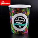 Напечатанный логосом бумажный шар мороженного