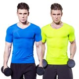 Un séchage rapide de grands hommes bodybuilding Muscle Compression T-Shirt T-shirt respirable 2017 ACTIF
