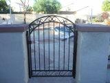 Cancello d'acciaio nero del cortile/cancello di giardino
