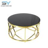 Mesa De Café de muebles de hogar baratos mesa de madera redonda de acero