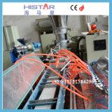 PVC canalones de agua de lluvia la máquina de encuadernación de la línea de extrusión de plástico para montaje de la máquina de perfil