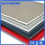 PVDF de base en aluminium blanc carte en plastique avec matériau ignifugé