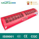 Ajustables de color rojo de la puerta de la dirección del viento la cortina del ventilador