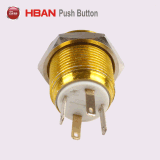 16mm Colorful Anodised Aluminum Metal LED Illuminated Push Button Switch