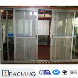 Australia aluminio estándar puerta corrediza puerta metálica de acero con pantalla de la Mosca