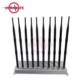 Un'emittente di disturbo/stampo delle 10 antenne per il walkie-talkie di /Wi-Fi/ UHF/VHF del cellulare, migliore emittente di disturbo portatile/interruttore del telefono delle cellule; Emittente di disturbo della radio a frequenza ultraelevata di VHF