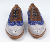 Mens zapatos de cuero auténtico de negocios