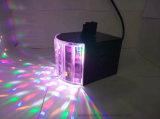 6 Mini LED 3W la etapa de la mariposa de la luz de discoteca con control remoto