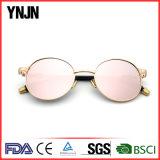 High End Ynjn Small Round Sun Glasses para homens Mulheres