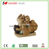 Figuras de esquilo de resina pintadas à mão para decoração de casa e jardim