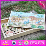 2016 Novo projeto Ancient Animals Wooden Kids Jigsaw Puzzle Toy W14c247