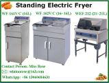 2017 acciai inossidabili della strumentazione commerciale molto seguita dal pubblico della cucina che si levano in piedi friggitrice elettrica