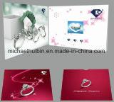 2.8 '' TFT LCD personalizada de promoción de la invitación de vídeo de felicitación del Folleto (VC-028)