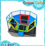 Equipamento de ginásio Trampolim de tamanho grande para crianças e adultos