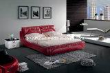 熱い販売の本革のベッド(SBT-5848)