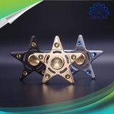 Juguetes Cinco-Acentuados creativos del hilandero del dedo de la mano de la persona agitada de la estrella con el certificado del Ce