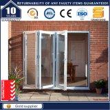Porte d'entrée en aluminium glacée par double de restaurant de qualité