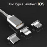 Nova chegada do cabo de sincronização de carga de dados magnéticos Micro Cabo USB Tipo C para iPhone