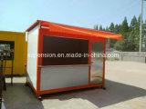 Casa de café móvel portátil/barra pré-fabricadas do baixo custo/Prefab