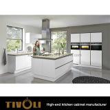 食器棚が付いている小さく白い食器棚のための新しい現代的なキャビネットの単位はTivo-0110hに値を付ける