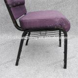 Eisen-Rahmen-purpurroter Gewebe-Kirche-Stuhl-heißer Verkauf (YC-G78)