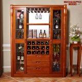 Gabinete de vinho de madeira maciço de mogno de estilo prático (GSP9-053)