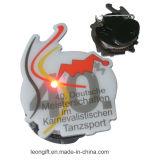 Pin de destello al por mayor de la solapa del regalo LED del recuerdo para la promoción