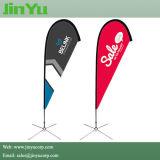 4.3m Promotional Fibra de vidro Teardrop Flying Flag Banner Pole Kits
