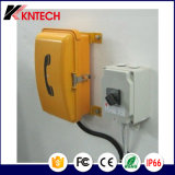 Телефон алюминиевого сплава телефона Knsp-01 телефона Sos робастный для напольного