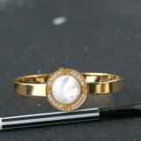 Pulsera del acero inoxidable de la joyería de la manera brazalete blanco del pun ¢ o del diamante de Shell