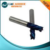 Moinho de extremidade do carboneto de tungstênio das flautas HRC50 4
