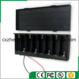 support de la batterie 8AA avec les fils, la couverture et commutateur rouges/noirs de fil