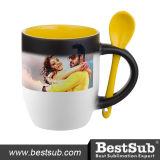 tasse changeante de cuillère de couleur du jaune 11oz (BSB11S-01)