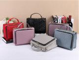Neue lederne Handtaschen-Handtaschen-Handtaschen gestickte Zeile Schulter-Beutel
