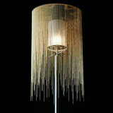 Morden runde Aluminiumkette und Farbic hängende Lampe
